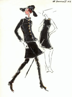 Yves Saint Laurent black dress with jacket