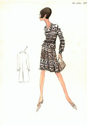 House of Dior brown and white suit