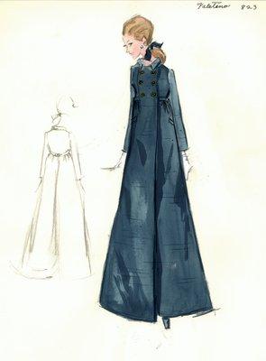 Valentino evening coat