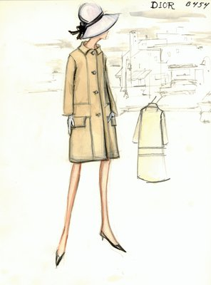 House of Dior tan coat