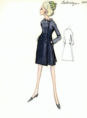 Balenciaga navy blue coat