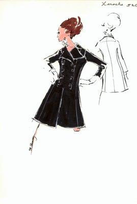 Guy LaRoche black coat