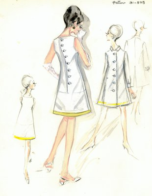 Jean Patou white day dress