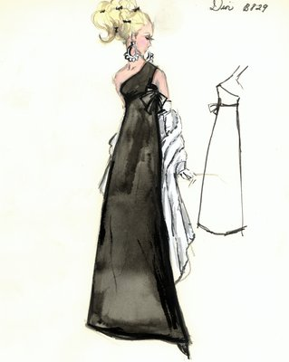 House of Dior black evening dress