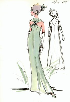 House of Dior green evening gown