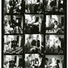 Contact sheet of Salvador Dali, Helena Rubinstein and companions